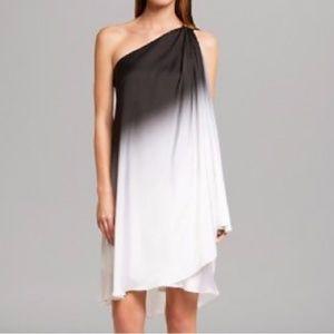 HALSTON HERITAGE  Ombre One Shoulder dress